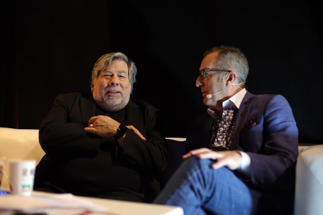 Monty Munford with Steve Wozniak